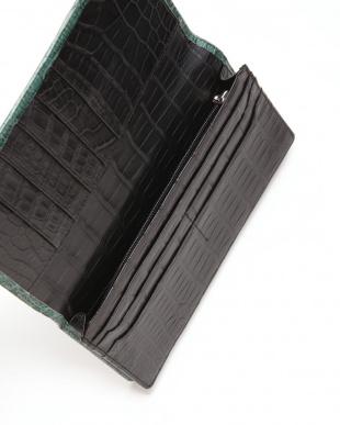 グリーン マットクロコン長財布を見る