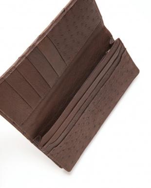 ブラウン マットクロコン長財布を見る