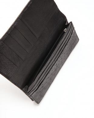 ブラック マットクロコン長財布を見る