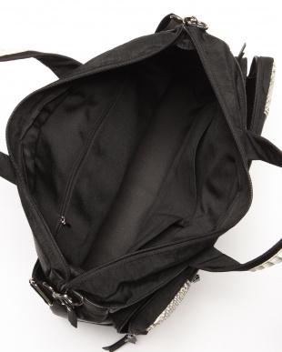 ブラック/ナチュラル ポリ&パイソンビッグバッグを見る
