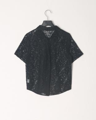BLACK ハーフスリーブレースシャツを見る
