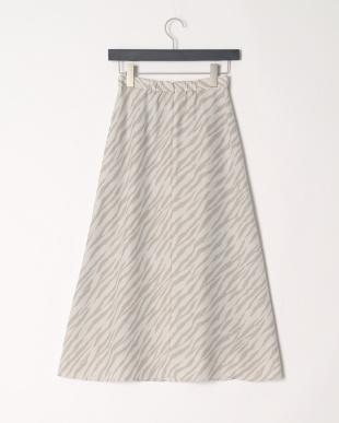 グレー ZEBRAプリントナロースカートを見る