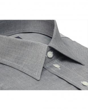 グレー系 形態安定 ノーアイロン 長袖ワイシャツ レギュラー グレー×無地調を見る