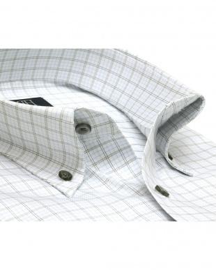 グレー系 形態安定 ノーアイロン 長袖ワイシャツ ボタンダウン 白×グレーチェックを見る