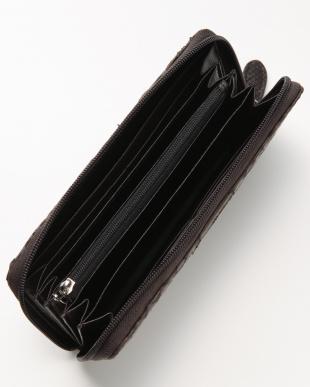 ダークブラウン ラウンド財布を見る