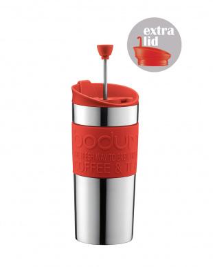 レッド TRAVEL PRESS SET フレンチプレスコーヒーメーカー 350mL ステンレスを見る