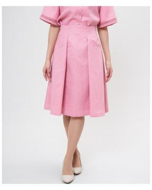 ピンク1 タックフレアスカート《ASAKO》 ef-deを見る