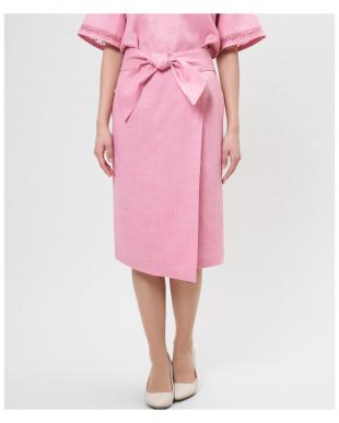 ピンク1 ウエストリボンタイトスカート《ASAKO》 ef-deを見る