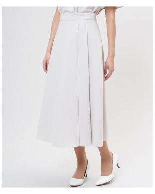カーキ3 リネン調サイドプリーツロングスカート《セットアップ対応》 CLEAR IMPRESSIONを見る