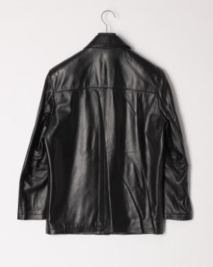 ブラック メンズラムジャケット ショール襟を見る