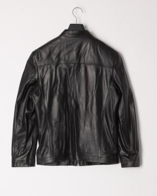 ブラック メンズラムジャケット スタンド襟を見る