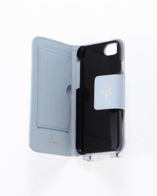 ライトブルー ポータブル 手帳型iPhone 6/6s/7/8対応ケースを見る