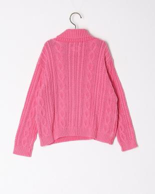 ピンク  ケミカルニット タートルセーターを見る