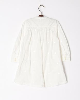 ホワイト  ビンテージローン ドット ジェニーロングシャツを見る