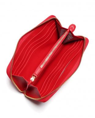 bright red Large Zip Round Wallet Chubby Heartレザー ハート ラウンドジップ 長財布を見る