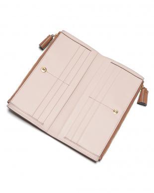 tan Large Double Zip Walletレザー ダブル 長財布を見る
