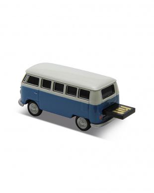 ブルー USBフラッシュメモリードライブ 16GB  VW ClassicalBus/ブルーを見る