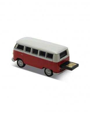 レッド USBフラッシュメモリードライブ 16GB   VW ClassicalBus/レッドを見る