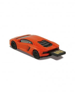 オレンジ USBフラッシュメモリードライブ 16GB ランボルギーニ アヴェンタ オレンジを見る