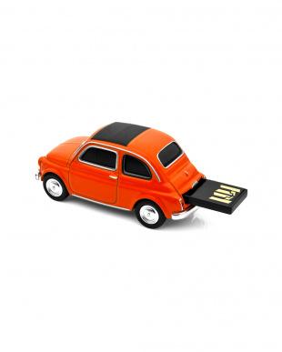 オレンジ USBフラッシュメモリードライブ 16GB フィアット ヌォーヴァ500 オレンジを見る
