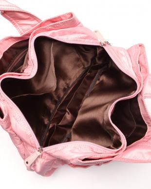 ピンク リボン付トートバッグを見る