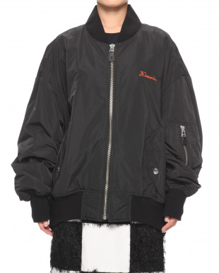 BLACK EMBROIDERED OVERSIZED MA-1 BLOUSONを見る