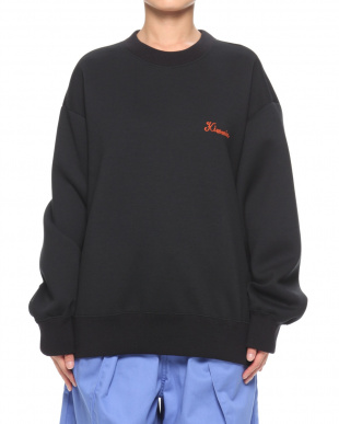 BLACK EMBROIDERED SWEAT SHIRTを見る