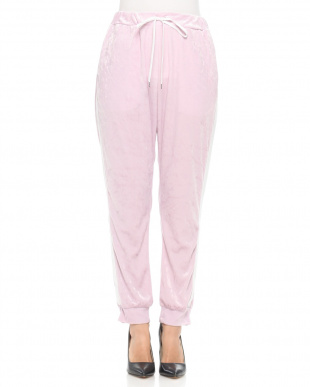 PINK VELOUR TRACK PANTSを見る