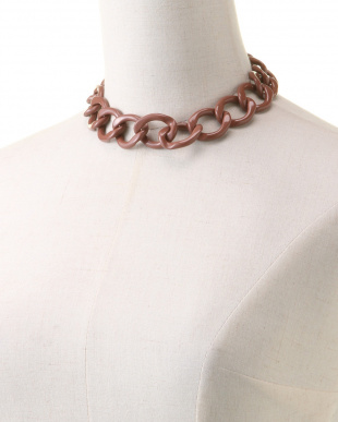 BEIGE CHAIN NECKLACEを見る