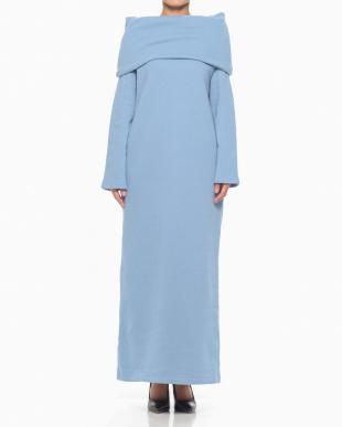 L.BLUE SWEAT OFF SHOULDER DRESSを見る
