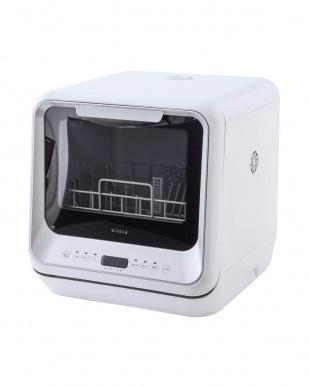 シルバー siroca 2WAY食器洗い乾燥機  (工事不要/除菌率99.9%/分岐水栓/タイマー搭載)  SS-M151を見る