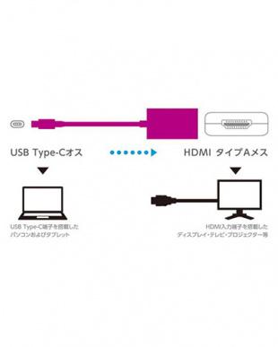 ブラック 「Type-C映像変換アダプタ」 TypeC-HDMI/for Macを見る