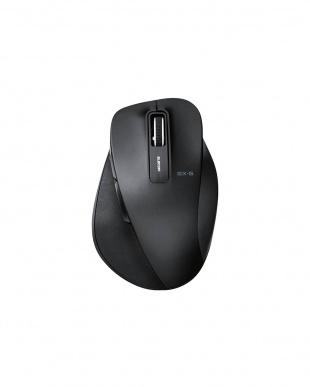 ブラック 「BlueLEDマウス」 無線/2.4GHz/5ボタン/Mサイズ/握りの極みを見る