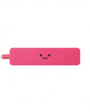 ピンク 「USB2.0ハブ」 4ポート/ACアダプタ不要/コンパクトを見る