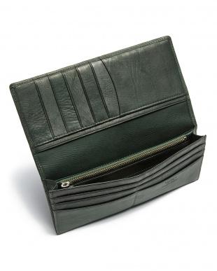 グリーン カーフレザー 長財布を見る