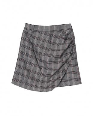 チェック ラップミニデザインスカートを見る