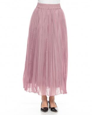 ピンク  ランダムプリーツスカートを見る
