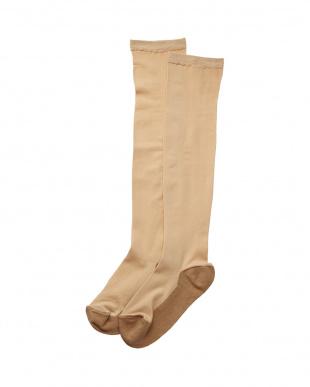 ベージュ まるでストッキングを履いたような靴下 フットカバータイプ 3個セットを見る