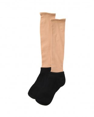 ブラック まるでストッキングを履いたような靴下 スニーカータイプ 3個セットを見る