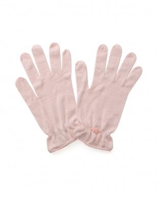 ピンク ネルネ おやすみアップリケ付手袋 2個セットを見る