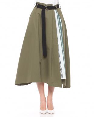 クロ ストライプ切替スカートを見る