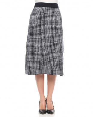 グレンチェック チェックニットスカートを見る
