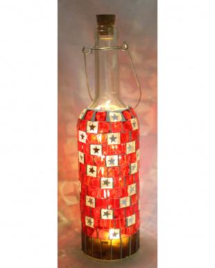 モザイクワインボトルLEDライト(Red)を見る