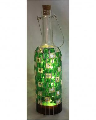 モザイクワインボトルLEDライト(Green)を見る