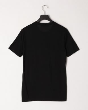 ブラック  シルク クルーネック半袖Tシャツを見る