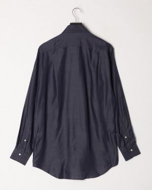 ブラック  フライフロントレギュラーカラー 長袖シャツを見る