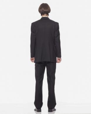 ブラック  ツーボタン シングルフロントスーツ アジャスター付を見る