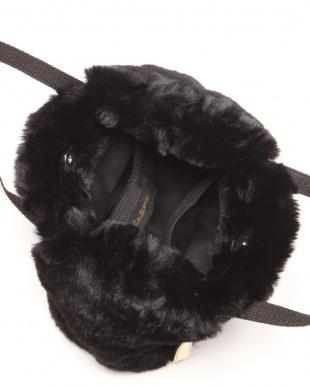 ブラック LSS バッグ エコファーメタルハンドルを見る