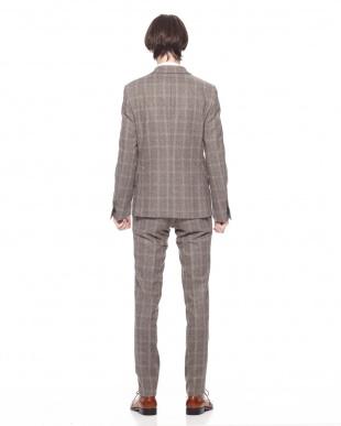 グレーグレンチェック  チェック ノッチドラペル スーツを見る