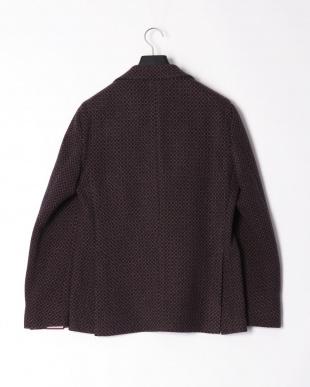 ネイビーブラウンミックス  デザイン柄 ピークドラペルテーラードジャケットを見る